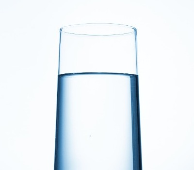 Filtered glass of water